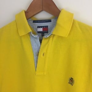 Tommy Hilfiger Shirts - Tommy hilfiger vintage 90s  yellow polo shirt